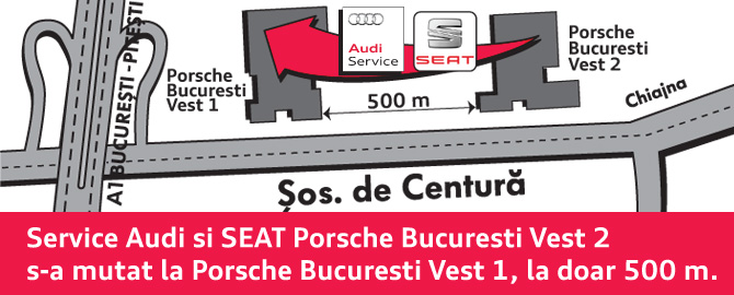 Porsche Bucuresti Vest 2 - Dealer Audi SEAT, Vanzari Audi si SEAT